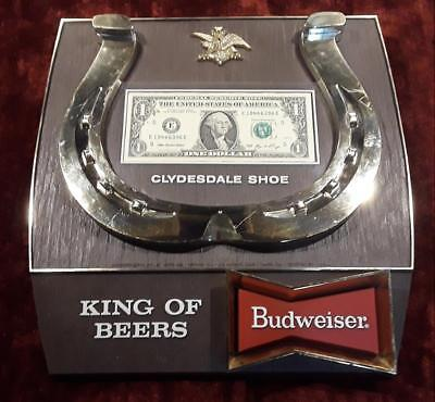 * *RARE VINTAGE BUDWEISER CLYDESDALE MONSTER HORSESHOE 1st BUSINESS DOLLAR* *