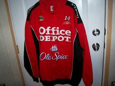 Tony Stewart Red with Black Coat Size XXL Number 14 Office Depot and Old Spice