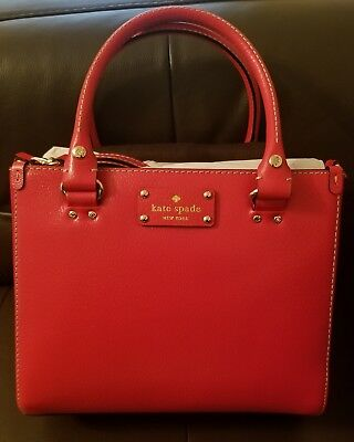 Brand New Kate Spade Small Quinn Wellesley Lacquerred Red Purse (tags) WKRU2723