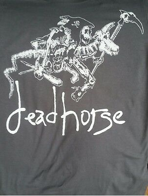 deadhorse  Grey Rider Faded Deathrider Ts with Knight Takes Pawn on the back!!