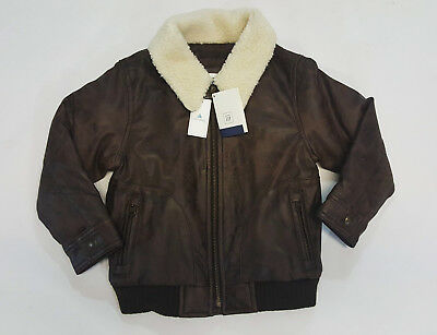 NWT Baby Gap Boys Size 18 24 Months 2t 3t 4t 5t Aviator Faux Leather Coat Jacket