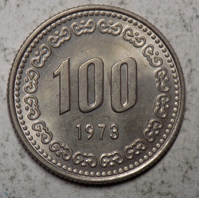 South Korea 1973 100 Won Coin