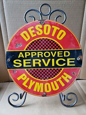 top quality DESOTO PLYMOUTH  porcelain coated 18 GAUGE steel SIGN