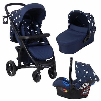 My Babiie Catwalk Collection by Abbey Clancy MB200+ Travel System - Navy Stars