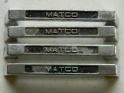 Matco Vintage Tool box Drawer Chest Cabinet Handle Pull set of 4