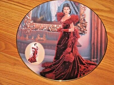 New Gone With The Wind The Red Dress Collectible Collector Plate Bradford Gift