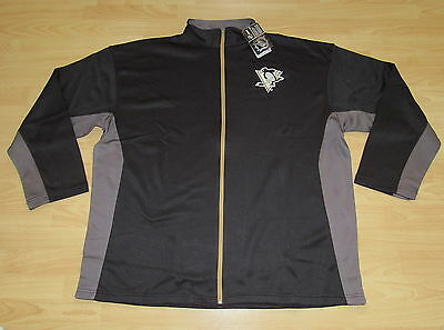 Pittsburgh Penguins Nhl Warm-Up Track Jacket Mens 5Xl - Embroidered Logo