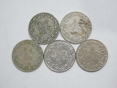 Egypt Ottoman Empire 1 Qirsh Mixed Date Cn Type World Coin Collection Lot #p