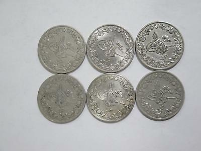 Egypt Ottoman Empire 1 Qirsh Mixed Date Cn Type World Coin Collection Lot #q