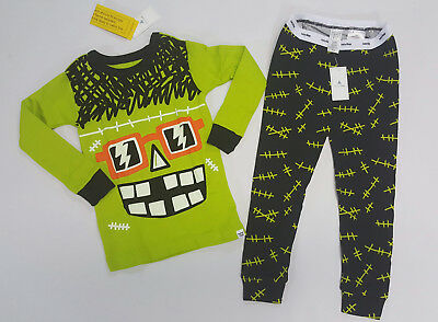 NWT Baby Gap Boys 6-12 Months or 2t Halloween Frankenstein Monster Pajamas Pjs