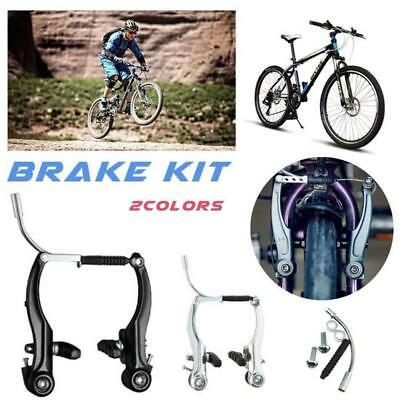 New Complete Mountain Bike V Brakes + Levers+ Cables Kit MTB Bicycle V-Brake Set