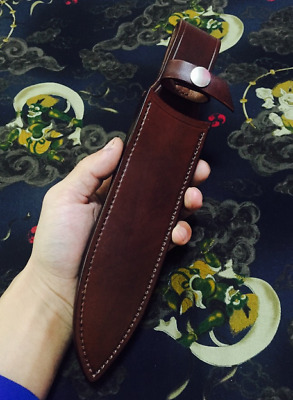 knife blade sheath cover scabbard case bag cow leather customize brown Z990