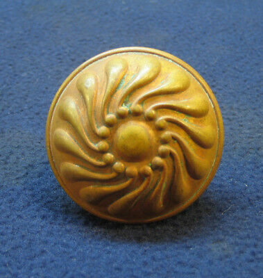 Beautiful Antique Victorian Eastlake Corbin Pinwheel Door Knob Deco Heavy Brass