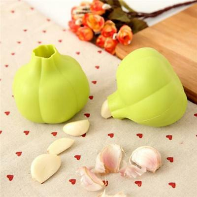 Design Garlic Press Crusher Zester Silicone Kitchen Gadget Peeler Tool New D