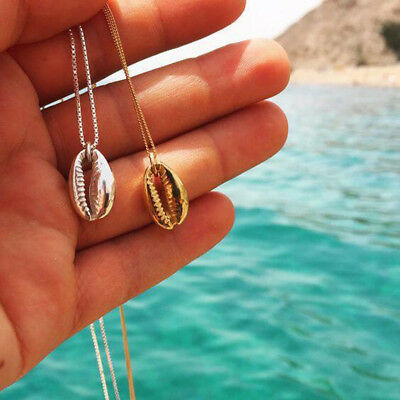Gold/Silver plated cowrie shell charm necklace Chian Pendant Fashion Jewelry NEW