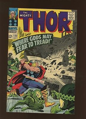 Thor 132 VF+ 8.5 * 1 Book Lot * 1st Ego, Grand Commissioner & More! Lee & Kirby!