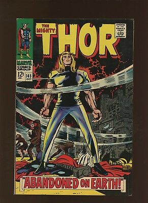 Thor 145 FN/VF 7.0 * 1 Book Lot * Abandoned on Earth by Stan Lee & Jack Kirby!