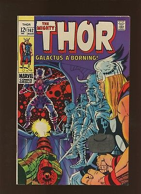 Thor 162 VF 8.0 * 1 Book Lot * Galactus is Born by Stan Lee & Jack Kirby!
