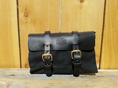 Orox Handcrafted Waxed Canvas Bridal Leather Roll Up Tool/multi Purpose Pouch