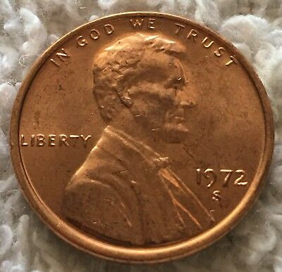 1972-S Lincoln Cent From Obw Roll Unc Condition Wow