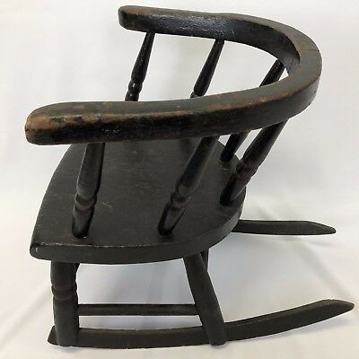 Antique Childs, Doll, or Teddy Bear Rocking Chair Furniture