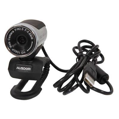 USB 2.0 1080P Full HD Webcam With Mic For PC Laptop Silver