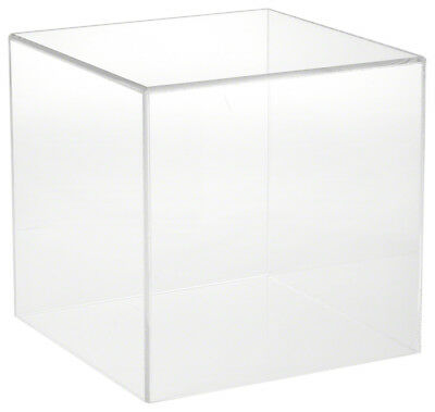 """Plymor Brand Clear Acrylic Display Case with No Base, 10"""" x 10"""" x 10"""""""