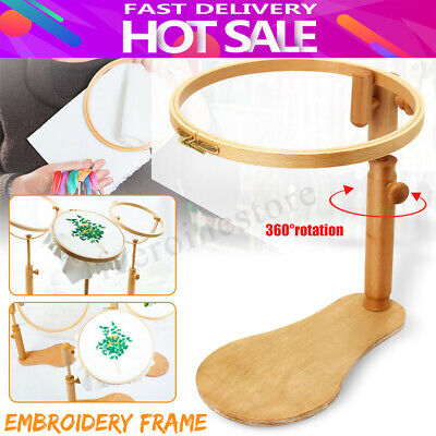 Elbesee Tapestry Embroidery Hoop Solid Wooden Lap Seat Frame For Cross Stitch