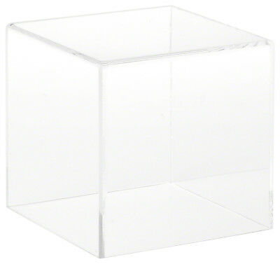 """Plymor Brand Clear Acrylic Display Case with No Base, 4"""" x 4"""" x 4"""""""