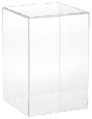 """Plymor Brand Clear Acrylic Display Case with No Base, 4"""" W x 4"""" D x 6"""" H"""