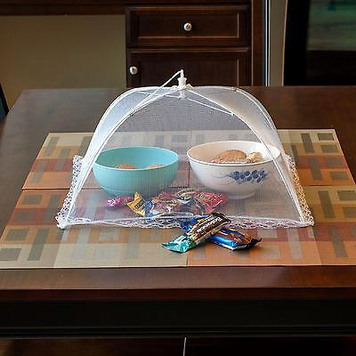 1/2xLarge Collapsible Mesh FOOD COVER Dome Pop Up Plate Umbrella Fly Wasp Net AU
