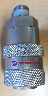 "Norgren 1/4"" BSP Male Self Venting Safety Nickel Plated Brass Coupling 237610028"