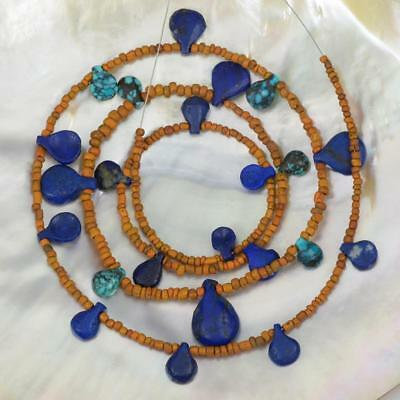 Ancient Beads Greco Bactrian Lapis Lazuli Turquoise Indo-Pacific Trade Glass