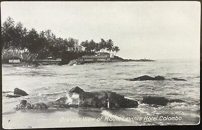 Distant View Of Mount Lavinia Hotel, Colombo - Plate Ltd Vintage Postcard