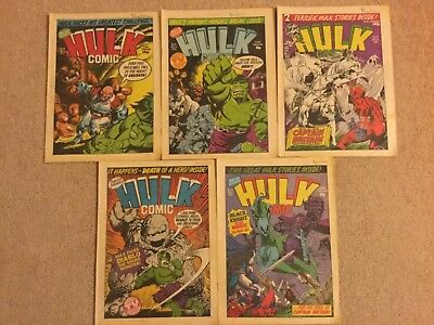Hulk Comic18-22 Marvel Comics UK