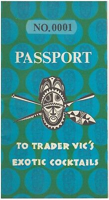 Rare & Vintage Passport No. 0001 To Trader Vic's Exotic Cocktails (MINT)