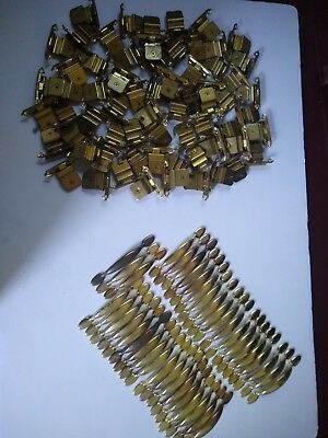Brass Cabinet Drawer Handles Pulls Hinges HUGE LOT 100+ Pieces