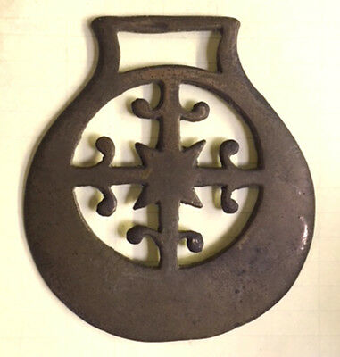 Antique / Vintage Horse Brass BRASSES Star, Marked ?