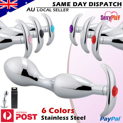 BDSM Anal Plug butt Plug Stainless Steel Crystal/Jewel Wearable Adult/Sex Toy