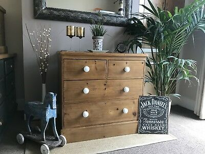 Antique Victorian Old Pine Chest of Drawers **FREE LOCAL DELIVERY **