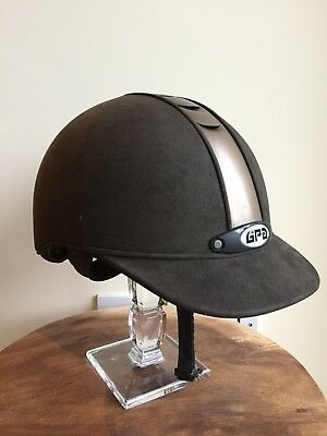 GPA Riding Hat Helmet Size 56 Brown/gold
