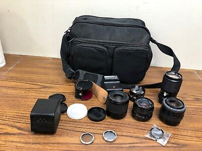 Vintage Assorted Lot Of Camera Lens & Accessories