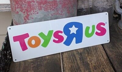 Toys r us where a kid can be a kid  Metal Sign 4x12 inches NEW S70