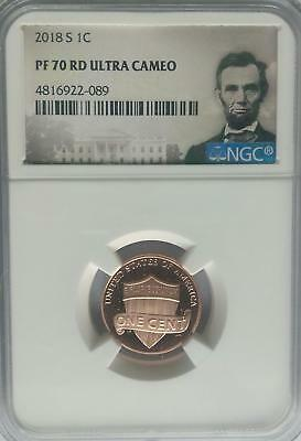 NGC REGISTRY PF70 2018-S Proof LINCOLN Shield Cent Penny Top Pop 1c Coin US Mint