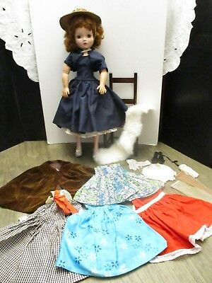 1950's Vintage Madame Alexander Cissy Doll Red head original clothes shoes dress