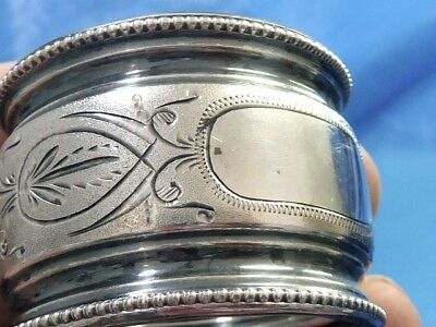 Antique Sterling Silver Estate Jewelry Victorian Antique Napkin Ring