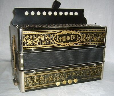 Vintage Hohner Made In Germany Zydeco Single Row Diatonic Squeeze Box Accordion