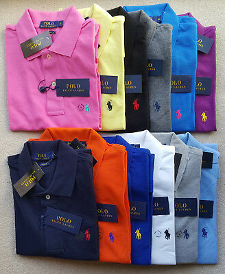 Ralph Lauren Pony Men's Short Sleeve And Long Sleeve Custom Fit Polo Shirt
