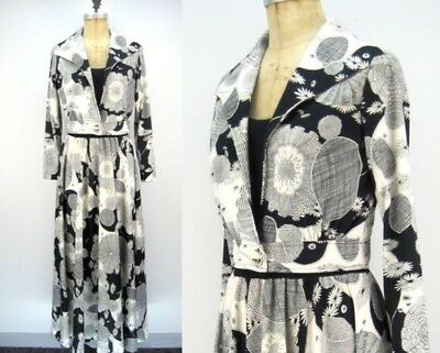 Vintage 70s Cirette Dress And Jacket Set - Spider Print!