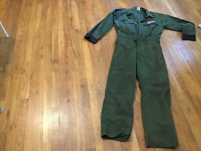 Vintage 60s-70s Texaco Mechanic Gas Station Attendant Coverall M Olive Great Con